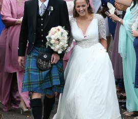 Жених в мужской юбке! Лучший теннисист Великобритании женился